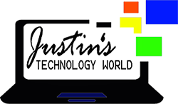 Justins Technology World Logo